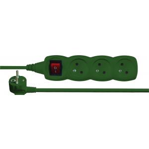 Prodlužovací přívod s vypínačem 3 zás. 3m