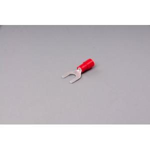 konektor vidlice izolovaná červená 5,3mm
