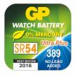 Knoflíková baterie do hodinek GP 389F papír. krabička