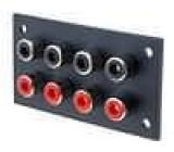 Zásuvka RCA zásuvka do panelu Počet konektorů:8 W:67mm
