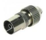 Zástrčka koaxiální 9,5mm (IEC 169-2) zásuvka přímý na kabel