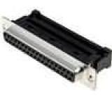 Zástrčka D-Sub 37 PIN zásuvka IDC na plochý kabel UNC4-40