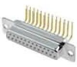 Zásuvka D-Sub 25 PIN zásuvka bez krytu, standard 9,4mm THT