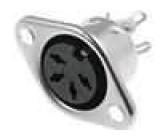 Zásuvka DIN zásuvka 4 PIN vývody 216° přímý pájení