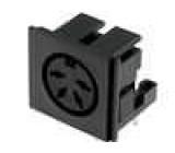 Zásuvka DIN zásuvka 4 PIN vývody 216° úhlové 90° THT