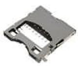 Konektor pro karty SD push-push, SMD