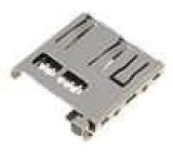 Konektor pro karty micro SD s vysouvací páčkou, SMD