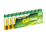 Alkalická baterie GP Super LR03 (AAA), 10 ks ve fólii