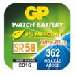 Knoflíková baterie do hodinek GP 362, 5 ks v blistru