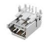Zásuvka IEEE1394 THT 6 PINúhlové 90°