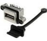 Zásuvka USB A do panelu, šroubovací THT úhlové 90° IP67