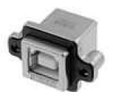 Zásuvka USB B do panelu, šroubovací THT úhlové 90° IP67