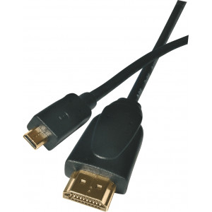 Kabel HDMI + Ethernet A/M - D/M 1,5M