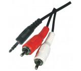 Kabel Jack 3,5mm - 2x CINCH stereo 3M