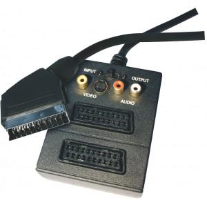 SCART kabel SCART vidlice - 2 SCART zásuvka + 3 RCA zásuvka + SVHS zásuvka délka 0,5m