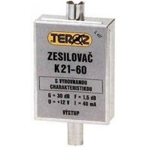 Anténní zesilovač pásmový K21-69 dvoutranzistorový TEROZ 453K