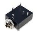 Zásuvka Jack 3,5 mm zásuvka stereo, s vypínačem do panelu THT