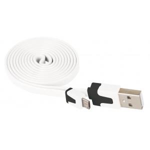 USB 2.0 A/M - micro B/M 1M bílý