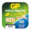 Knoflíková baterie do hodinek GP 386F, 10ks, papír. krabička