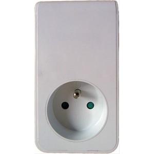 USB nabíjecí adaptér s průběžnou zásuvkou, 2x USB, 2100mA max., bílý
