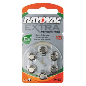 Baterie do naslouchadel RAYOVAC H13MF, 6 ks v blistru