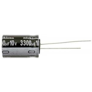 3300u/10V elektrolyt.kond.radiál. 105°C 13x21x5