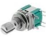 Přepínač otočný impulsní 0,1A/16VDC rýhovaný -20-60°C