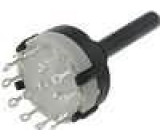 Přepínač otočný 6 poloh 0,3A/125VAC 1A/30VDC 2 sekce