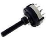 Přepínač otočný 4 polohy 0,3A/125VAC 1A/30VDC Počet sekcí:3