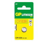 Lithiová knoflíková baterie GP CR1220, 1 ks v blistru