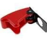 Krytka chránící páčku přepínače červená