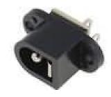 Zásuvka napájecí DC vidlice 5,5mm 2,5mm přímý s vypínačem