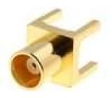 Zásuvka MCX zásuvka přímý 50Ω THT teflon zlacený Včsv:1,3