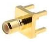 Zásuvka SMB vidlice přímý 50Ω THT teflon zlacený Včsv:1,41