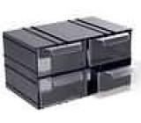 Plastová skříňka 106x55x135mm, 4 zásuvky