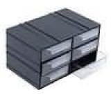 Plastová skříňka 104x35x135mm 6 zásuvek