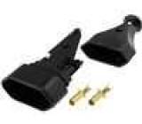 Síťová zásuvka na kabel plochá 2,5A/250V černáSíťová zásuvka na kabel plochá 2,5A/250V černá