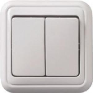 Vypínač č.5 PANELÁK bílý na omítku