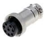 Vidlice mikrofonní na kabel 8 pinů (samice)