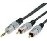 Kabel 2xCINCH - vidlice jack 3,5mm řada Exclusive 3m