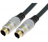 Kabel vidlice SVHS - vidlice SVHS 10m řada Exclusive