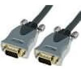 Kabel D-Sub 15pin HD vidlice z obou stran 3m černá
