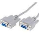 Kabel D-Sub 9pin zásuvka z obou stran 5m