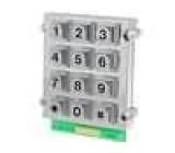 Kovová klávesnice 12 tlačítek 62x70mm číselná vodotěsná.