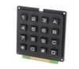 Plastová klávesnice 16 tlačítek 65x64mm černá číselná