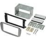 Rámeček pro autorádio 2 Din kit Ford Focus 2007->, Ford Focus C-Max 2007->, Ford Galaxy 2007->, Ford Mondeo 2007->, Ford S-Max 2007-> stříbrný