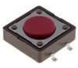 Mikrospínač 1-polohové SPST-NO 0,05A/12VDC SMT 2,6N 12x12mm