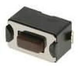 Mikrospínač 1-polohové SPST-NO 0,05A/12VDC SMT 1,6N 3,5x6mm