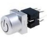Mikrospínač 2 polohy DPDT 0,1A/30VDC THT LED   1,5N