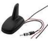 Anténa SHARK AM, FM, GPS DIN, kabely 12VDC Druh RG174